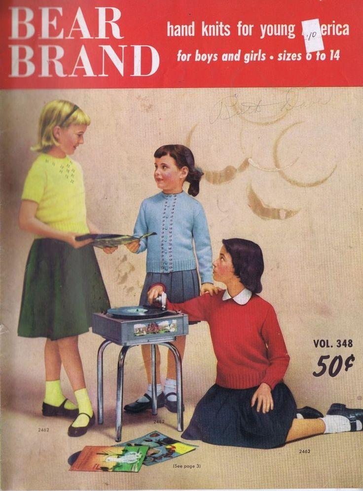 Vintage Knitting Patterns Jackets Cardigans Sweaters Girls Boys Sizes 6 to 14