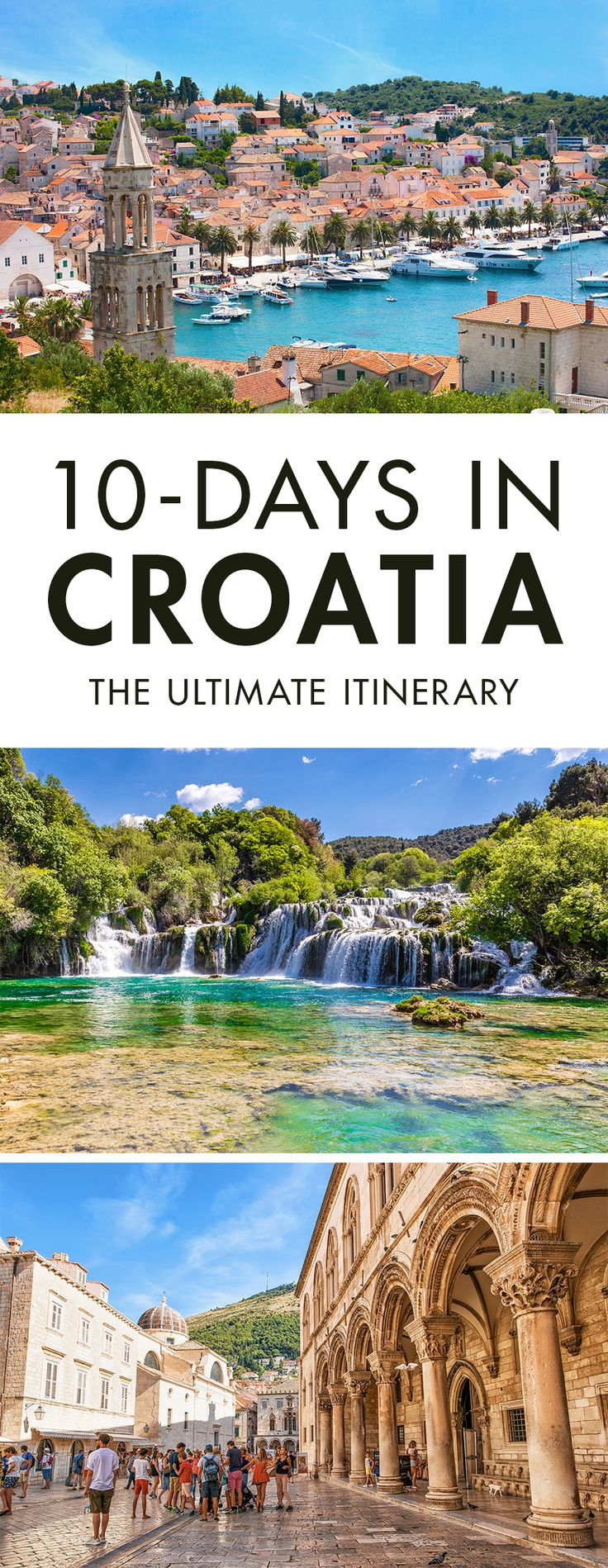 Heading to Croatia for a few days? Click the pin to read our travel guide on how to spend 10 days in Croatia. It's the only Croatia Itinerary you will need, trust me.