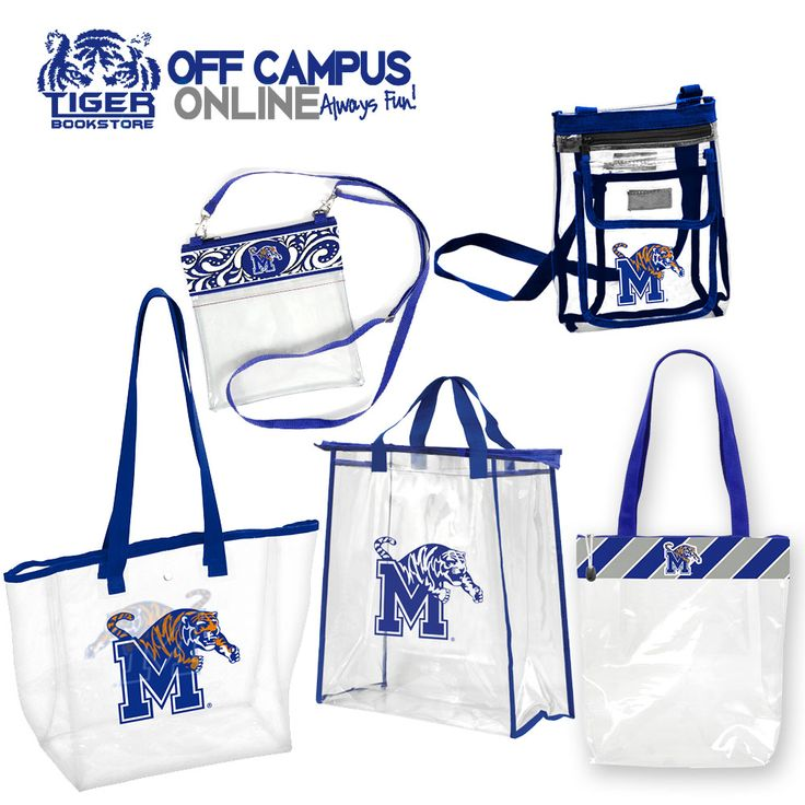 Memphis Tigers Football Games 2017 Clear Bag Policy -  In the interest of public safety and to significantly expedite entry into the Liberty Bowl Stadium for Memphis Tigers games, the city is implementing a clear bag policy that will limit the size and types of bags that may be brought in by fans. We have your stadium regulation clear bags available now!