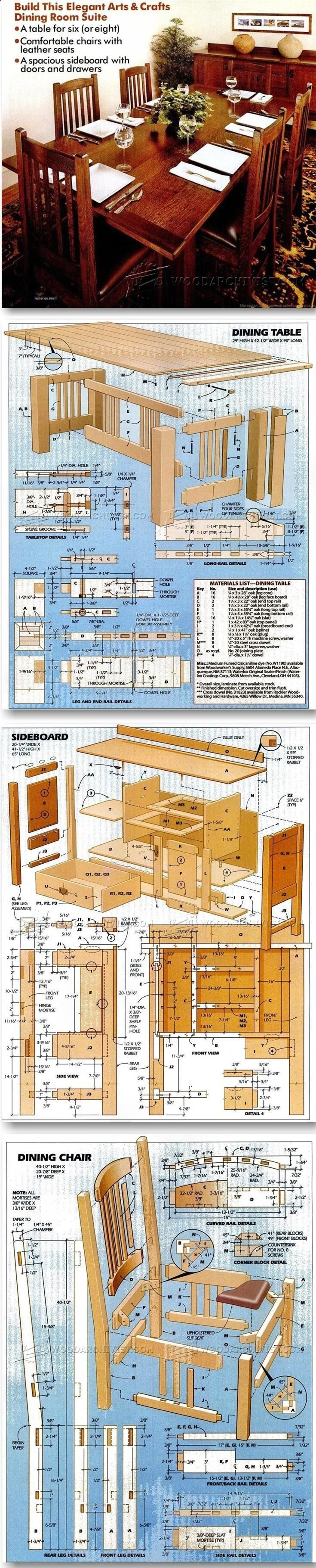 Dining Room Furniture Plans - Furniture Plans and Projects   WoodArchivist.com