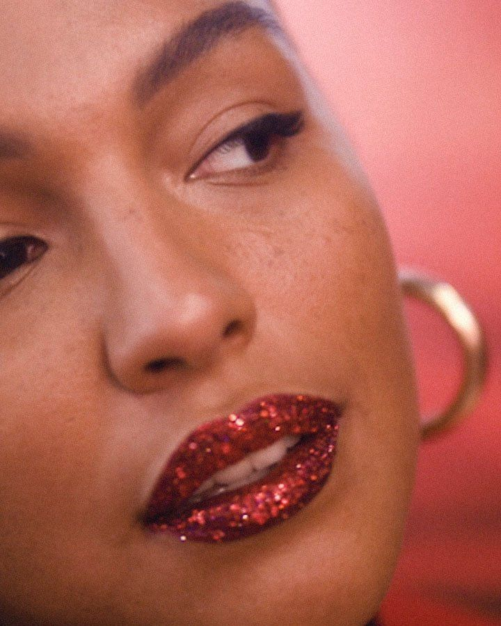 """Paloma Elsesser - @Paloma~ Elsesser~""""It's like ruby slippers for your mouth!"""" Elsesser says, of her twinkling 3-D red lips."""
