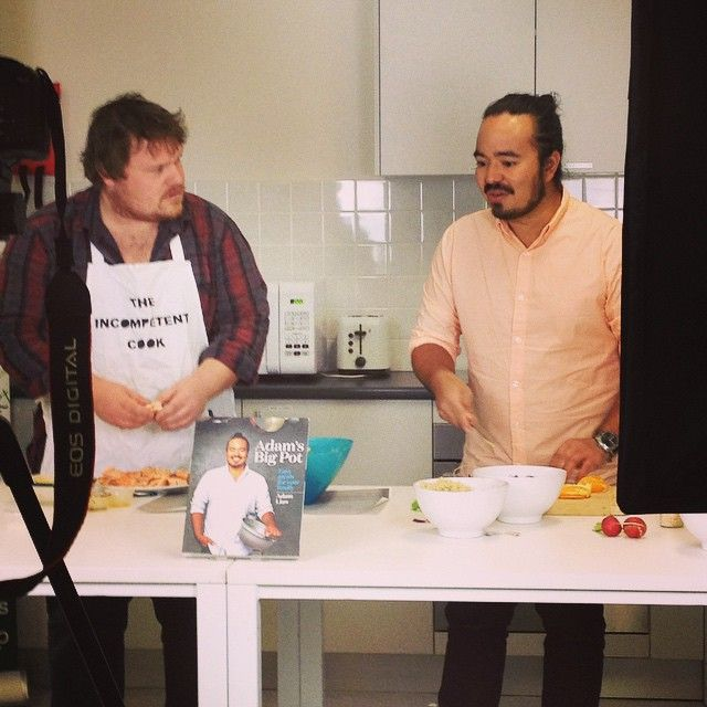 That Incompetent Cook gets around doesn't he? The great Adam Liaw is trying to teach him a thing or two. Will it work? We'll find out soon...