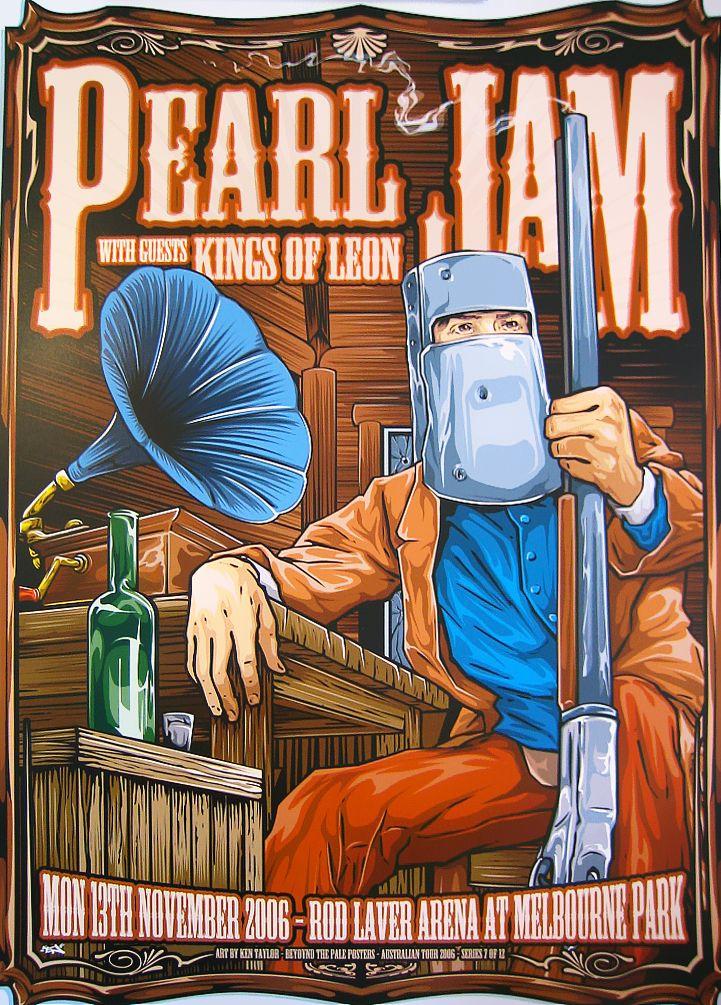 Pearl Jam  ☮~ღ~*~*✿⊱╮Hippie Style, Free Spirit, Boho, - レ o √ 乇 !! ✿⊱╮❥☮ music concert poster