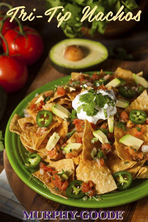 Smoked Tri-Tip Nachos with Salsa & Guacamole Recipe