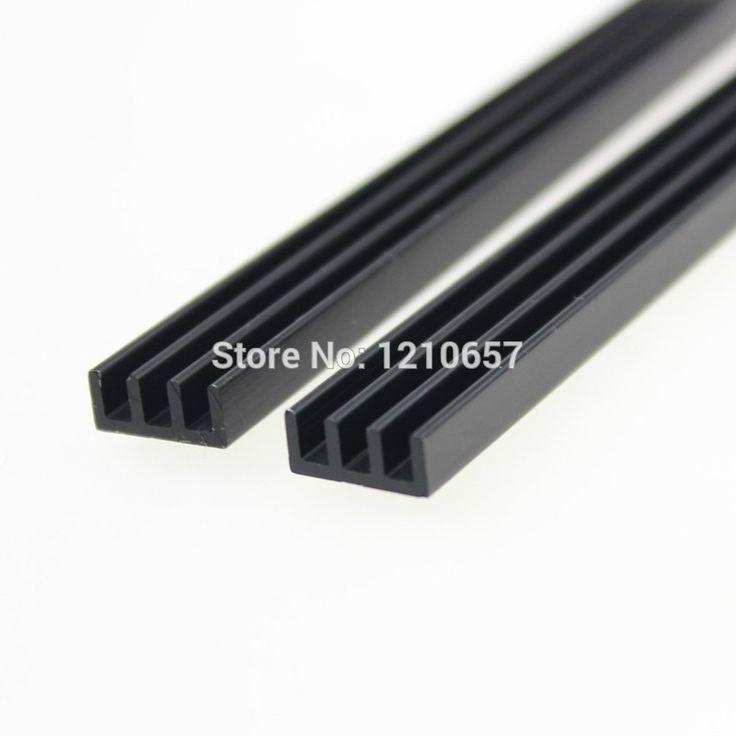 1 pieces Black 100x11x5mm IC LED Heat Sink Heatsink Aluminum Radiator 100*11*5MM Cooling Fin