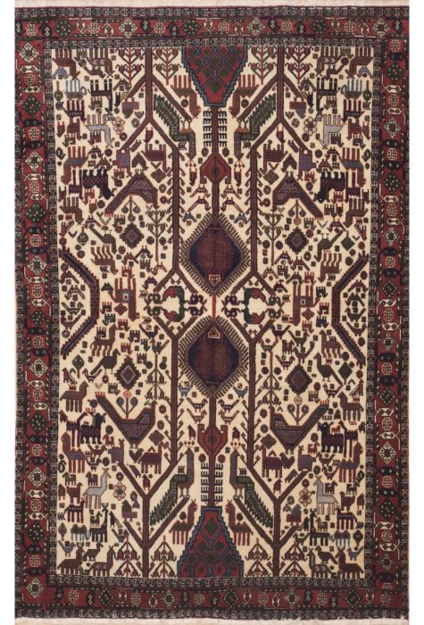 Shahre babak Persian rug. Wool. Hand Knotted. 151 x 224 http://www.rugman.com/persian-shahre-babak-design-oriental-area-rug-medium-size-wool-beige-rectangle-100-11324
