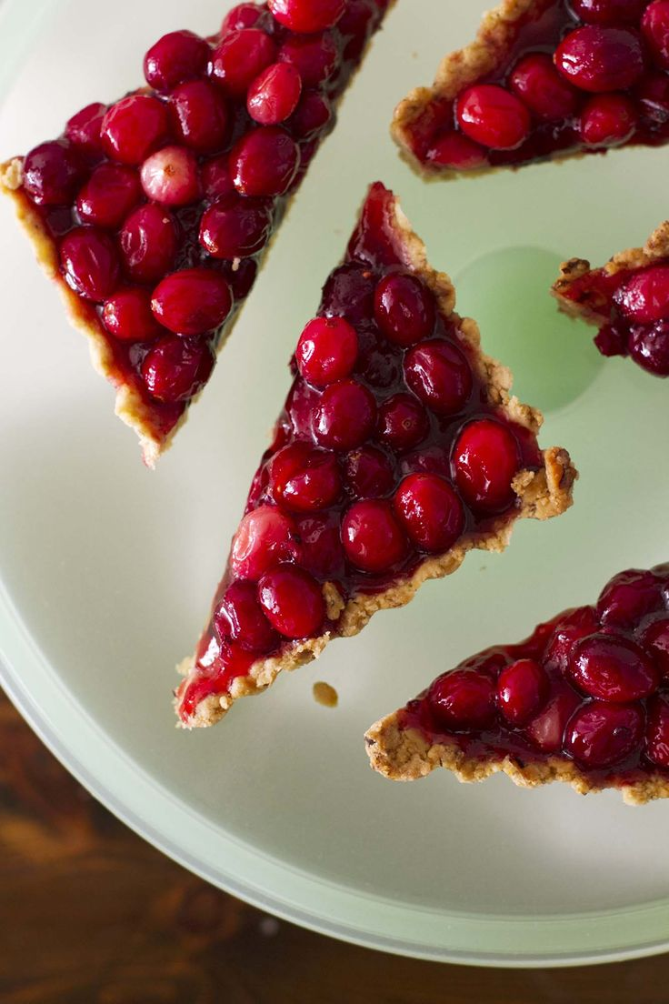 Nut-Crusted Cranberry Tart | Recipe | Cranberries, Tarts and Girls