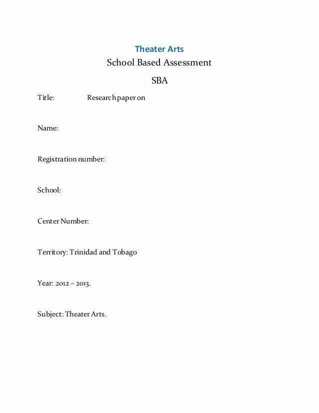 Lab Report Cover Page Apa Awesome Cover Page Research Paper In
