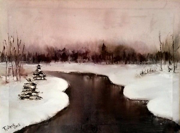 Winter Landscape, Oil on canvas, Olga Tretyak http://x-doux-x.livejournal.com/36683.html?mode=reply#add_comment
