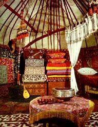 Yurt's interior