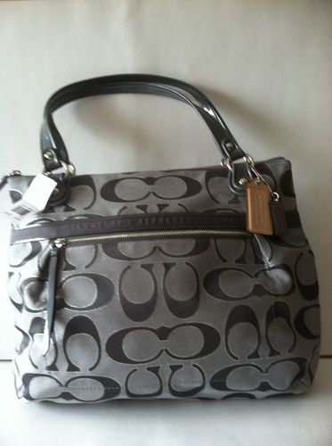 COACH POPPY METALLIC SIGNATURE TOTE retail 198.00 on sale for $149.99 at blomming.com/mm/giaconisboutique/items