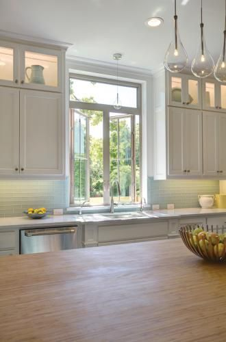 White Kitchen Windows With Double Casment Windows And Picture Window Above.  Featuring Tuscany Series Windows