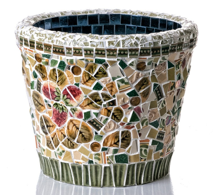 Charming Linda Del Rosario STRAWBERRY POT. Mosaic PotsMosaic GardenStrawberry ...