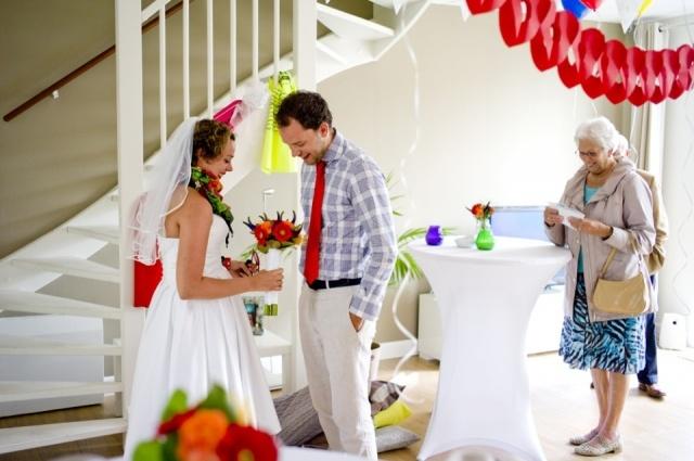 Een intieme bruiloft aan huis | ThePerfectWedding.nl