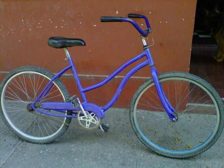 Mi bici.... Ahora decapitada :(