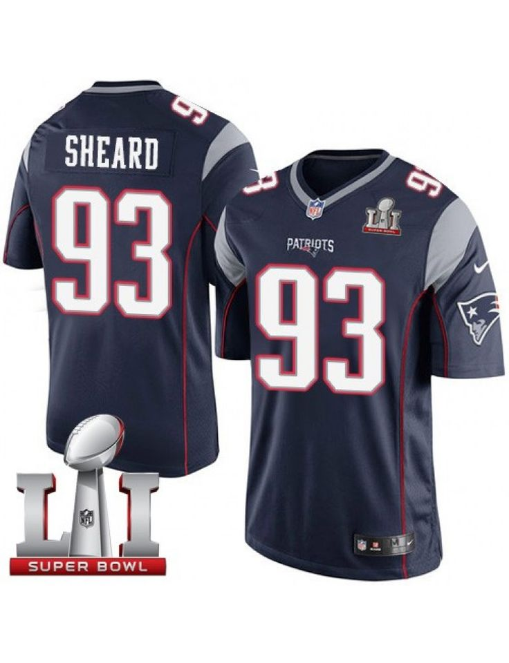 New England Patriots Nike Youth #93 Jabaal Sheard Elite Navy Blue Team Color Super Bowl LI 51