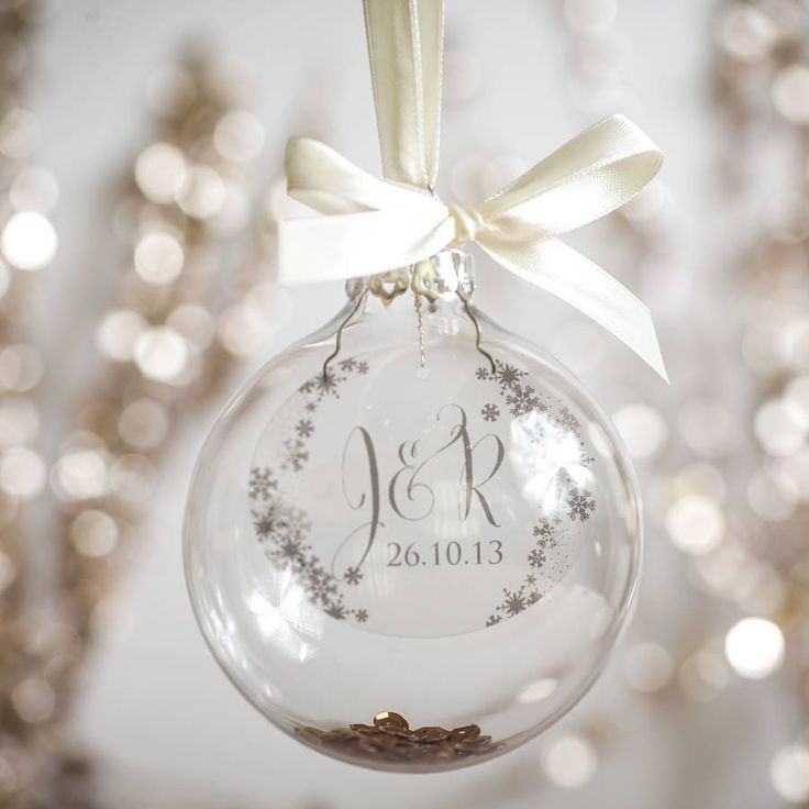 This luxury glass Christmas decoration is personalised and hand made to order, finished with ribbon and sequins.This product is available in a variety of colours and designs and can be personalised. Please use the drop down menu to make your colour selection. If you would like a special message please use the ask the seller button. PLEASE NOTE your bauble will come with silver lid.Your name and date are printed onto a clear transparency and the delicately placed and finished within a luxury…