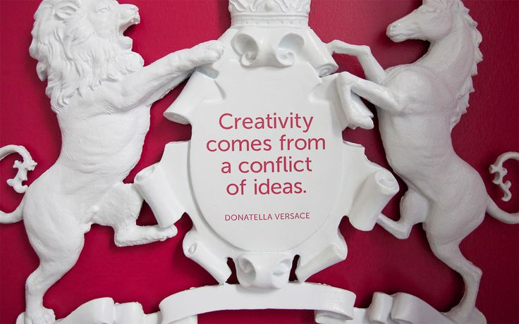 "Davis | Happy #MotivationMonday! ""Creativity comes from a conflict of ideas"" - Donatella Versace"