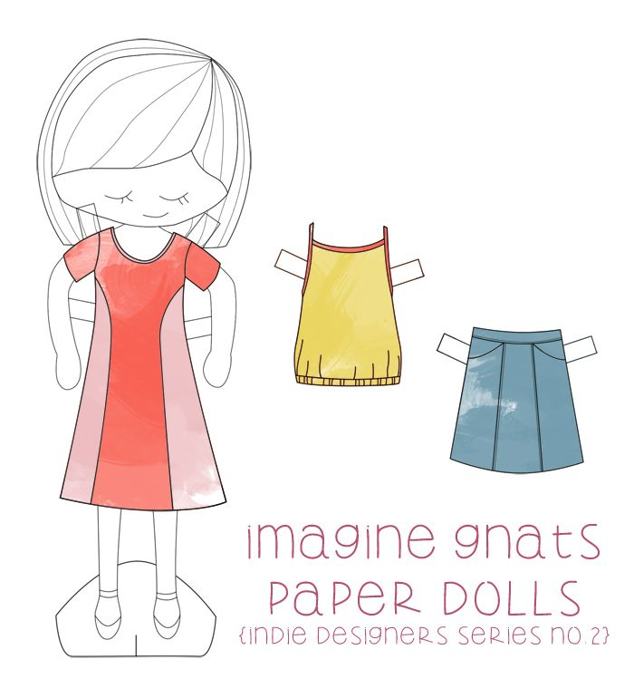DIY: paper dolls free printable || imagine gnats