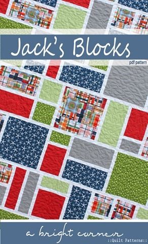 Jack's Blocks Twin Size Quilt Pattern