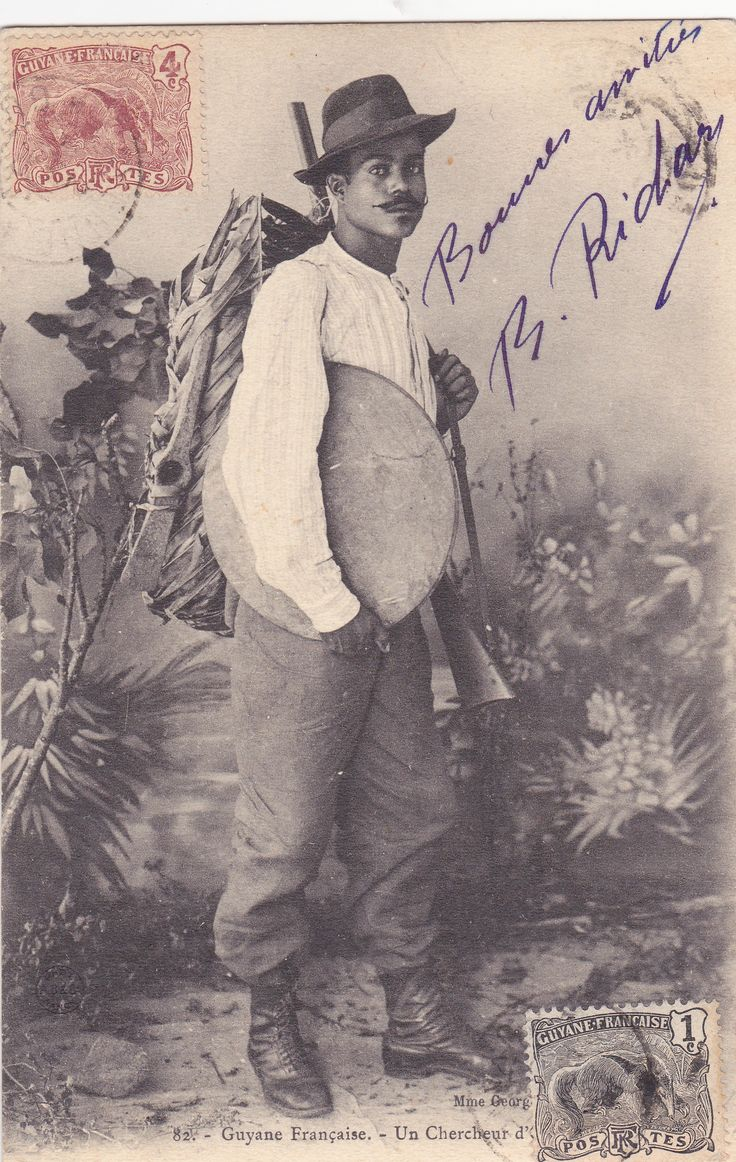 Un chercheur d'or à Cayenne vers 1905 Photo Mme Evrard