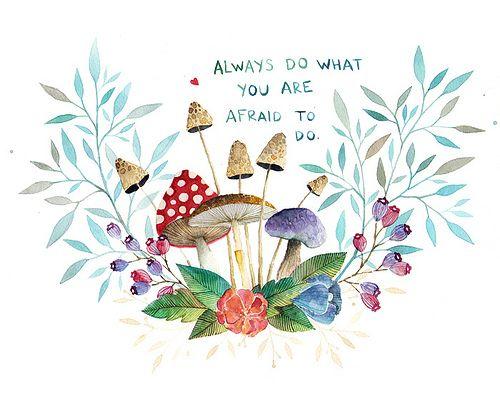 Mushroom   Watercolor on Paper 2012   Ana Victoria Calderon   Flickr