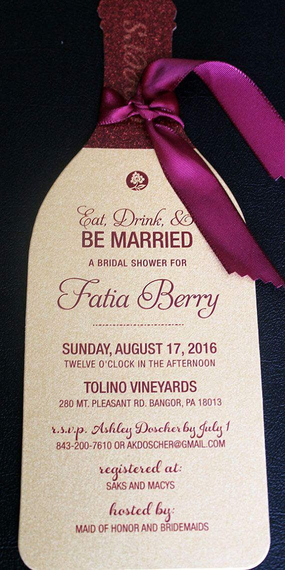 37 best Wine Bottle Invitations images on Pinterest | Invitation ...
