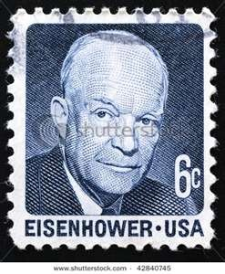 ... 1970. Postage stamp of USA President Dwight D. Eisenhower, circa 1970   .06 cents
