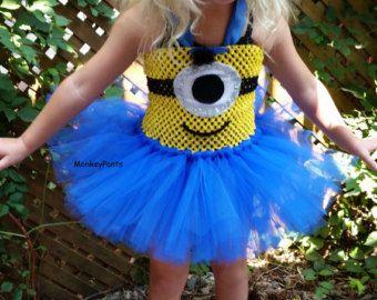 Minion Costume // Minion Tutu // One Eyed by HarperRoseBoutique