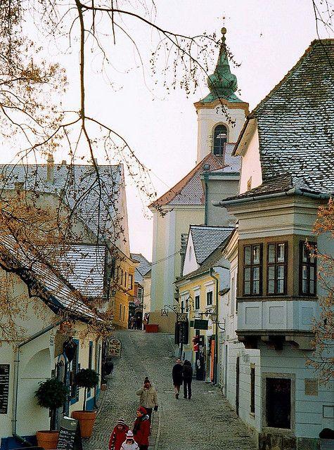 Szentendre, Hungary hermosa, bella y atractiva calle de Hungria.   Stunning place.