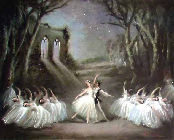 compare swan lake and giselle Giselle has been buried in a forest, close to a lake hilarion comes to grieve at her grave, but does not linger he senses the presence of wilis myrtha, queen of the wilis, summons her subjects to appear and assist her in initiating giselle to their sisterhood.