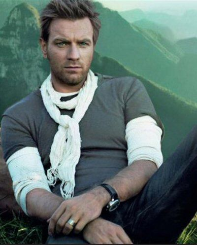 ewan. i saw an interview where he talked about stealing a scarf from a photo shoot --  i think this is the one :)