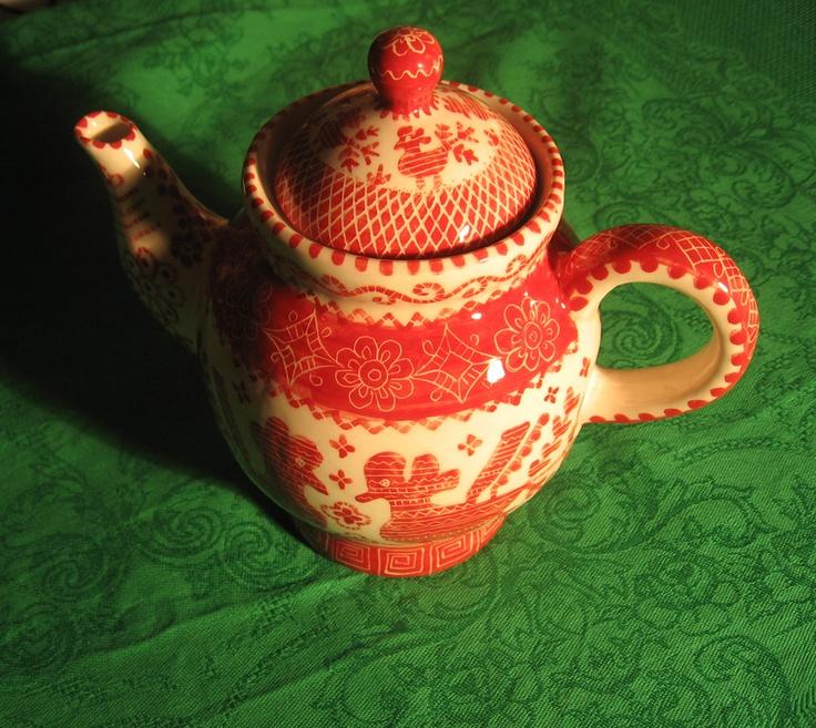 Teapot. Чайник из фарфора. Handmade.