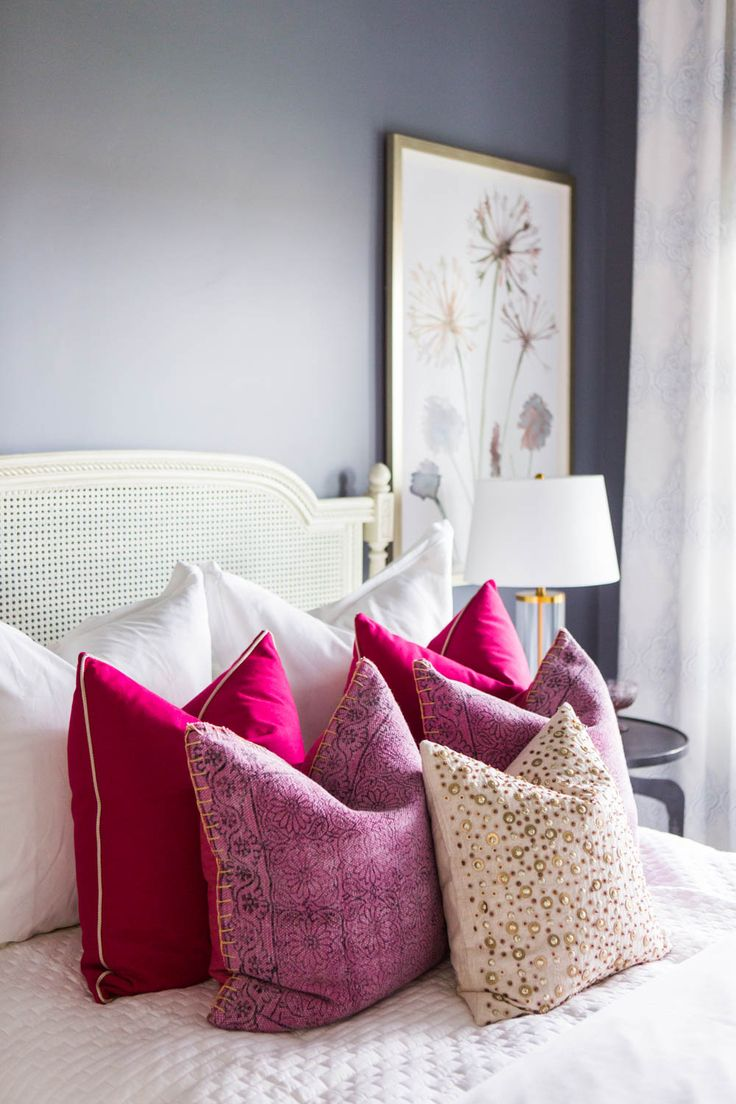 Blue and pink master bedroom - Today We Are Excited To Share Both The Master Bedroom And Guest Bedroom In Our Alden