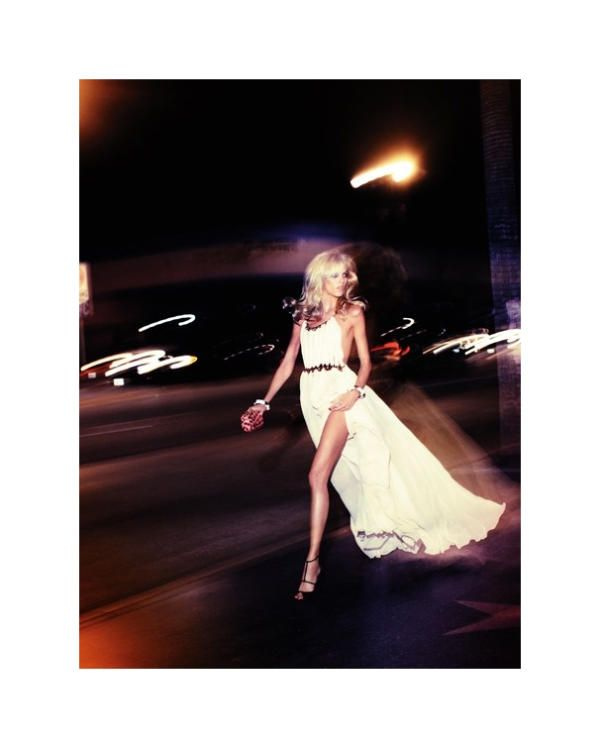 Anja Rubik: Anja Rubik, Maxi Dresses, Style, Night Lights, Thighs High, The Dresses, White Dresses, Cities Lights, White Gowns