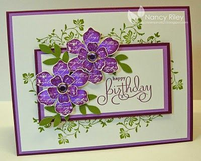 Love the depth of color on this card. by Nancy Riley