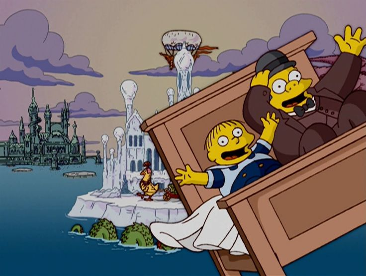 """felixkeepswalking: """"What a cute tribute to Winsor McCay at the end of """"Four Beheadings and a Funeral,"""" The Simpsons Treehouse of Horror XV """""""