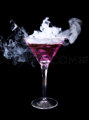 I am going to assume this is some kind of alcoholic drink.  It is very cool looking and purple!!!!