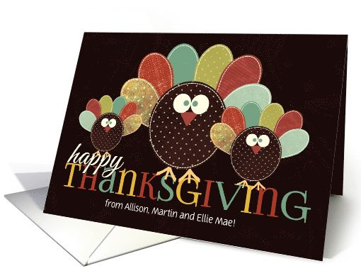 from All of Us Thanksgiving Silly Patchwork Turkey card