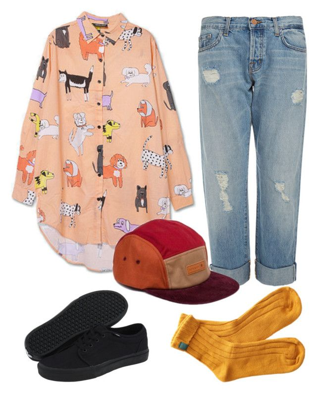 Mac Demarco Inspired by christinamary on Polyvore featuring polyvore, fashion, style, J Brand, Vans, Lazy Oaf and clothing