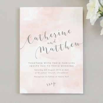 Romance Watercolour Wedding Invitations