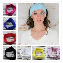 Sport Yoga Headband Bandana hijab Turban For Women Stretch Headwrap Soft Stretch Cotton Headband Turbante Hair Accessories 1PC