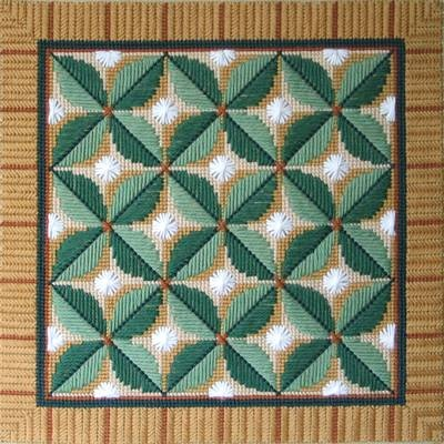 Leaf Quartet in Textured Stitches