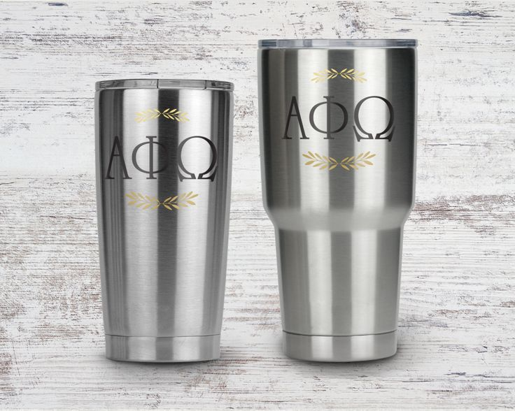 Stainless steel tumblers, with clear lid. 20 or 30 ounce available.  Design is printed on tumbler, not a vinyl decal so it will not peel, fade or scratch off. Hand wash recommended.