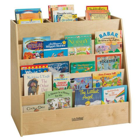 The Display & Store Mobile Book Cart offers the best of both worlds. One side features a (5) tiered book display, where you can keep all of your story time favorites neatly organized and easily accessible. The other side features (5) roomy cubbies where you can store toys and supplies. On top, there are (3) additional storage shelves where you can store even more books and materials.