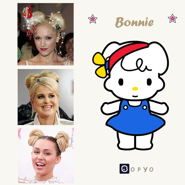 Which celebrities' picture best resembles Bonnie?  1. Gwen Stefani 2. Kelly Osbourne 3. Miley Cyrus
