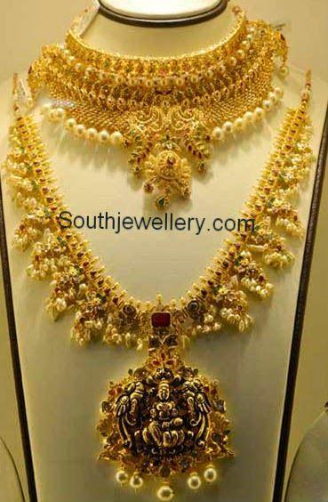 guttapusalu necklace with pendant