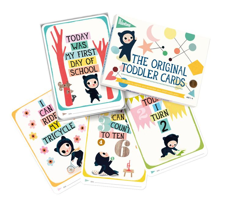 Perfect gift for kids and parents: Milestone™ Toddler Cards  www.milestonecards.com