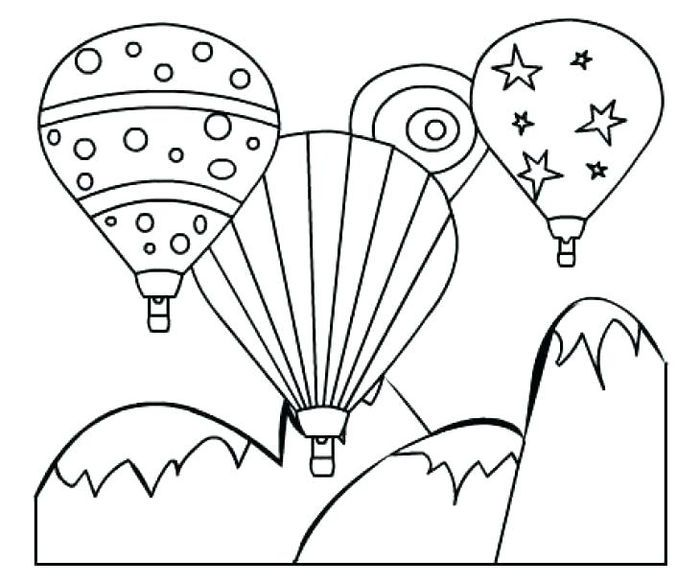 Balloon Fiesta Coloring Pages Bunny Coloring Pages Geometric Coloring Pages Monster Coloring Pages