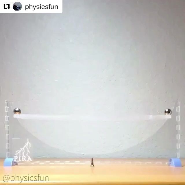 Morning mode while waiting for @caleebv to get in the game #alwayslearning  #Repost @physicsfun with @get_repost  Tautochrone Curve: a cycloid curve has the special property that the time it takes for an object to slide to the bottom of it under gravity is the same no matter how high it starts up the curve. Also the time it takes is always equal to pi times the square root of the cycloid radius divided by g. Presented here are three instances of two spheres being released at the same time…